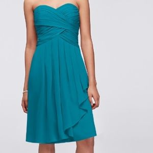 David Bridal blue bridesmaid dress size 10